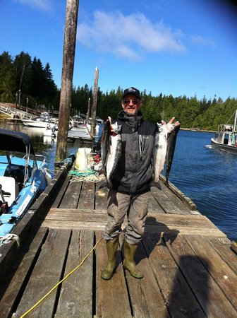 Seabeam Fishing Resort: Some of the chinook I caught!