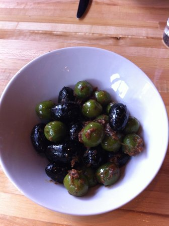 The Squeaky Bean: Warm Olives.