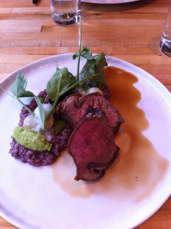 The Squeaky Bean: Mushroom Risotto with Steak.