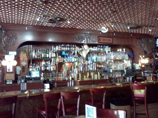 The Beautiful Bar With Tin Roof Ceiling Picture Of
