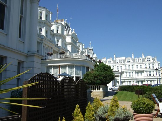 A View Of The Hotel From The Swimming Pool Picture Of The Grand Hotel Eastbourne Eastbourne