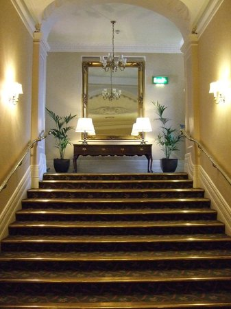 The Grand Hotel Eastbourne : A staircase leading to the spa