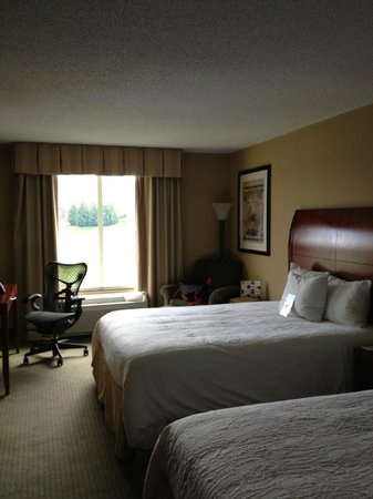 Hilton Garden Inn Charlottesville : View of the hotel room.