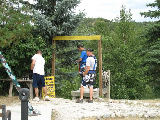 Hy-Wire Zipline Adventures-Day Tours: The starting point - Line 1