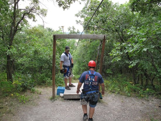 Hy-Wire Zipline Adventures-Day Tours: Top of the last run