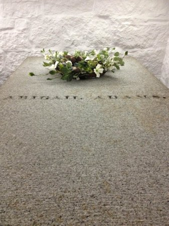 United First Parish Church: Abigail Adams' tomb