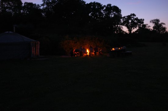 Blackdown Yurts - Yurt Holidays in Devon: One of the smaller fire pits