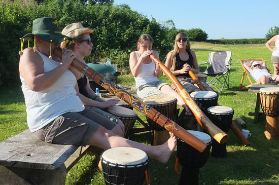 Blackdown Yurts - Yurt Holidays in Devon: Josh from Drum nation came for the hen do