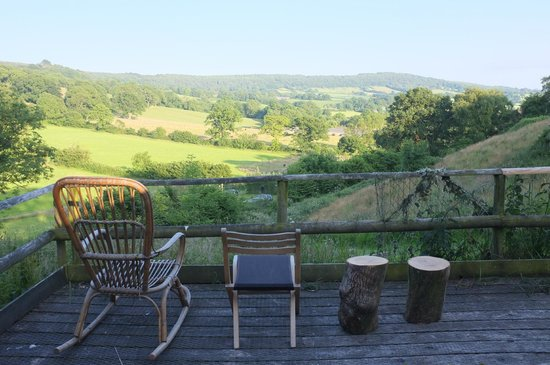 Blackdown Yurts - Yurt Holidays in Devon: The view from the yurt on the hill