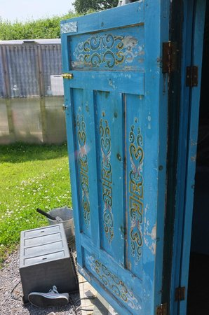 Blackdown Yurts - Yurt Holidays in Devon: Beautiful yurt door