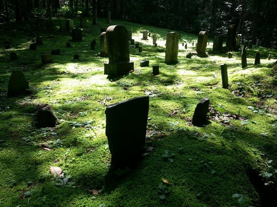 Baskins Creek Falls: Cemetery at start of 2nd route