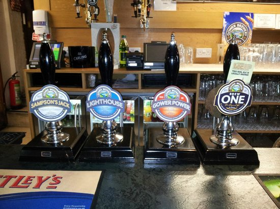 King's Head Inn: Just a selection of ales on offer, there is more!!