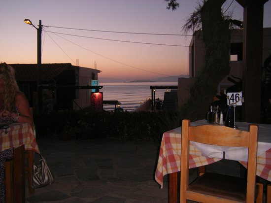 Nafsika Taverna: View from the restaurant