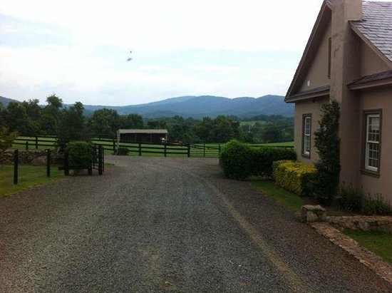 Glen Gordon Manor: View of the cottage and stables
