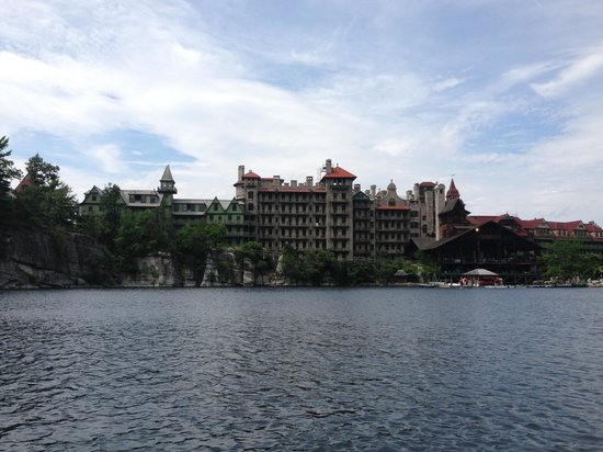 Mohonk Mountain House: View from Lake Mohonk