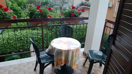 Hotel Erika: Room balcony towards inner yard