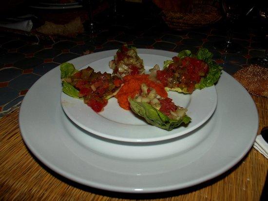 Riad Alboraq : Petite salade Marocaine préparée par Saïda