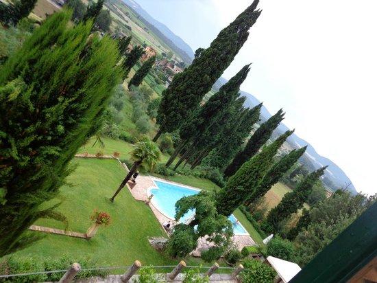 Villa il Poggio: Blick aus dem Fenster