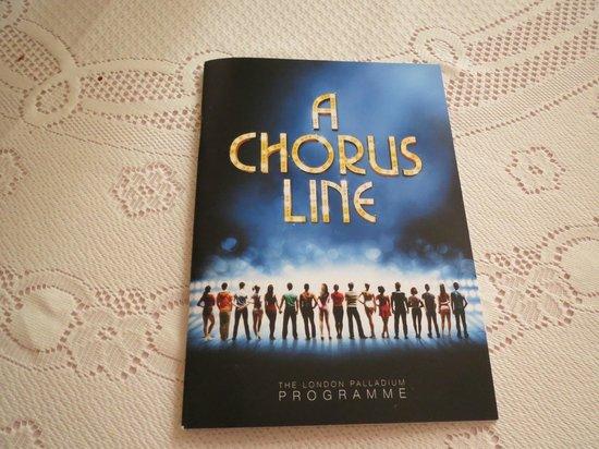 A Chorus Line: London Palladium programme