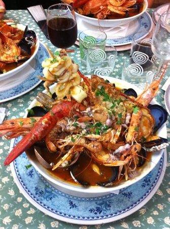 Ristorante da Ferdinando e Rosina: zuppa di crostacei