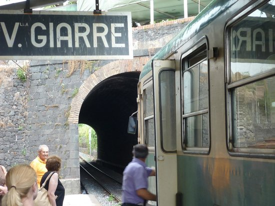 Circumetnea Railway : Giarre Station. Say hello to the useless people at the tourist office. Don't trust them!