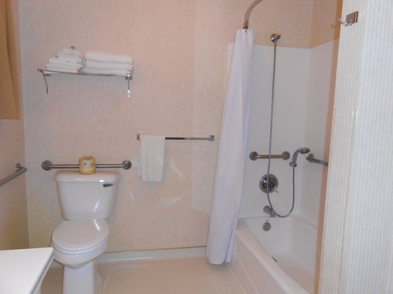 Marinwood Inn & Suites: Accessible bathroom