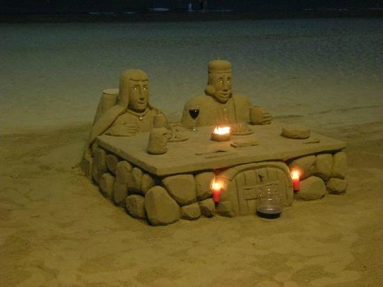 made out of sand just by ann's beach bar