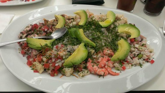 Ceviche at De Costa a Costa Mexico City