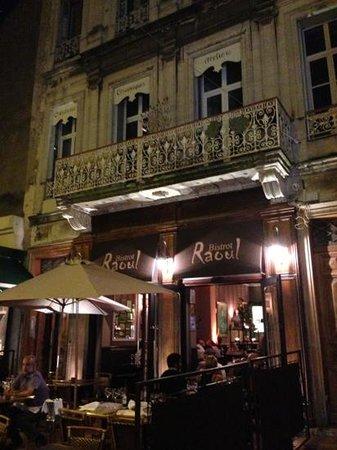 façade du bistrot Raoul