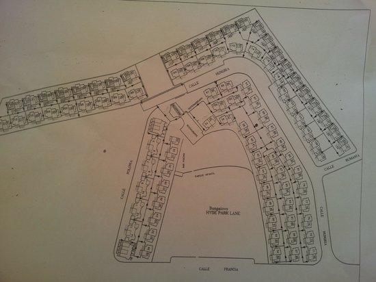 Map Of Bungalows Picture Of Hyde Park Lane Puerto Del