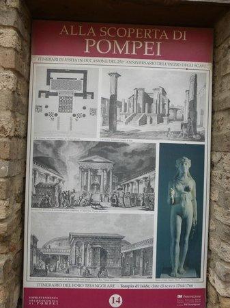 Tempio d'Iside: Pompeii placard