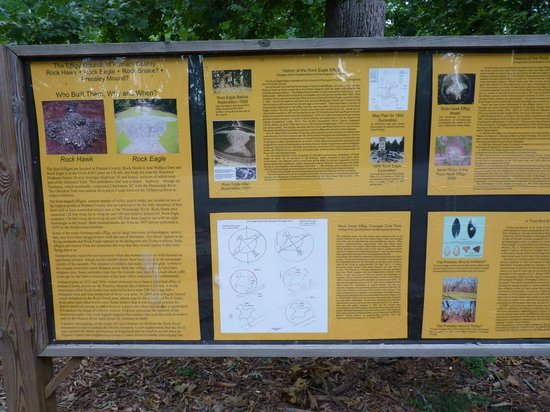 Rock Eagle Mound: info sign