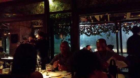 Soho Jazz and Food: Enclosed patio
