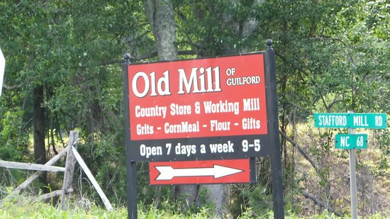 Old Mill of Guilford: Old Mill Sign