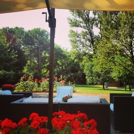 Pozzo di Mezzo B&B: the view at breakfast on the terrace..