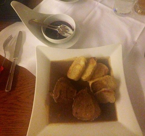 Hotel LOUiS: Sauerbraten with Red Cabbage and Bread Dumplings