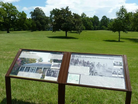 Ocmulgee National Monument: civil war site marker