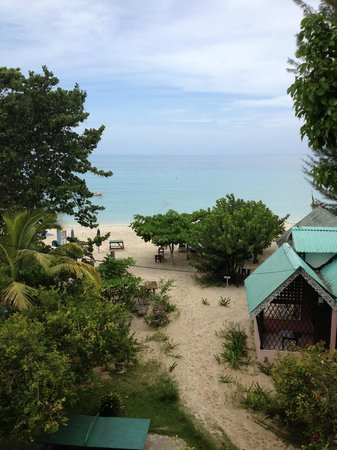 Firefly Beach Cottages: view from  beachfront penthouse balcony