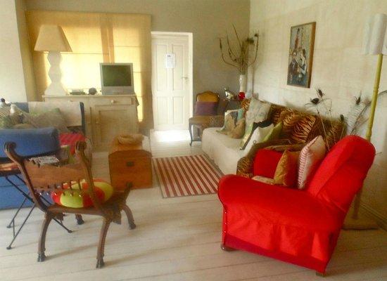 Hayloft B&B: The Bright and Warm Sitting Room