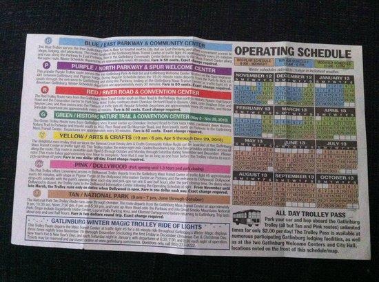 Gatlinburg Trolley: Trolley Routes