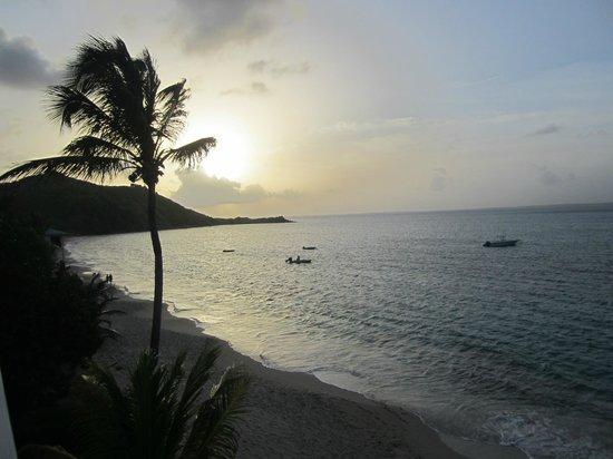 Bleu Emeraude: Evening view from balcony looking left