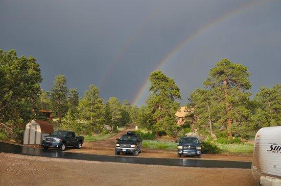 Estes Park KOA : Double Rainbow
