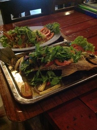 New Hut Bungalows: good food