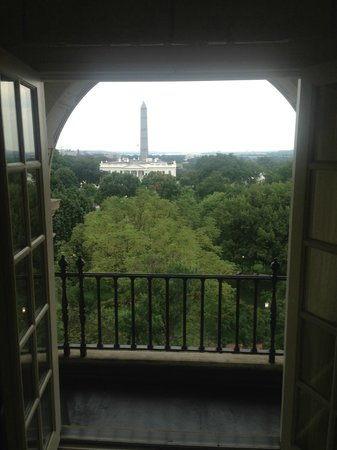 "The Hay-Adams: ""White House View"" Room balcony"