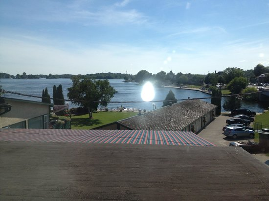 The Gananoque Inn and Spa: View from our room (204)