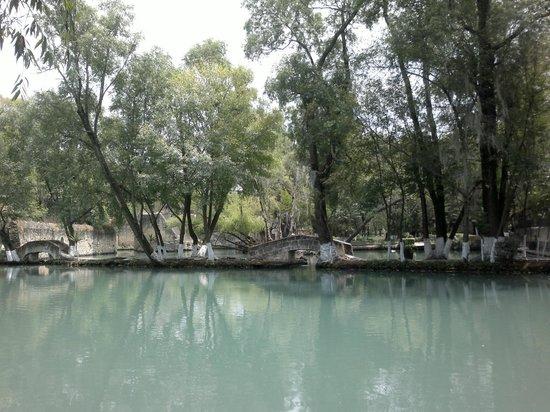 Hacienda San Miguel Regla: El lago en medio de la hacienda
