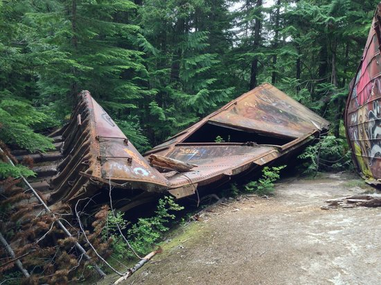 The Whistler Train Wreck Trail: The most mangled of the cars we saw.