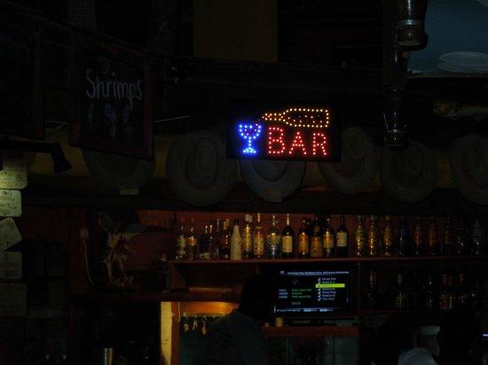 Rancho El Sobrino Restaurant: Bar sign