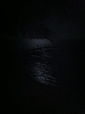 White Sands Inn: full moon taken off room 7 deck