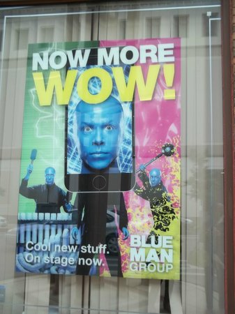 Blue Man Group: On the window outside: A great place to pause for group photos.